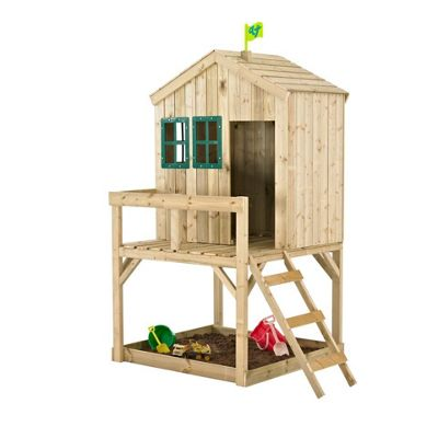 TP Toys Forest Cottage Wooden Playhouse With Sandpit