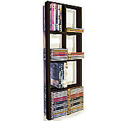 Double Wall Cd / Dvd / Blu Ray Storage Shelf - Black/brown