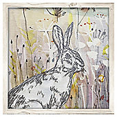 Hare Canvas With Embroidery