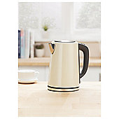 Tesco JKSSC16 Cream Stainless Steel Kettle New
