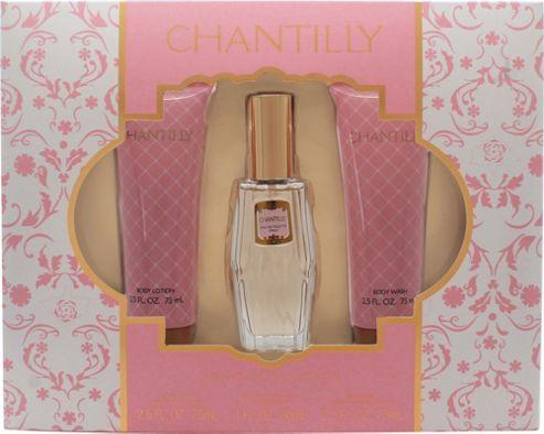 Dana Chantilly Gift Set 30ml EDT + 75ml Body Lotion + 75ml Body Wash For Women