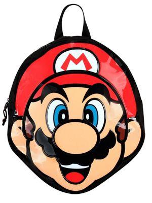 Super Mario Nintendo Mario Shaped Black Backpack
