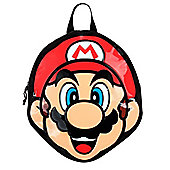 Super Mario Nintendo Mario Shaped Black Backpack