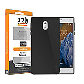 Orzly FlexiCase for Nokia 3 Phone - BLACK (2017)