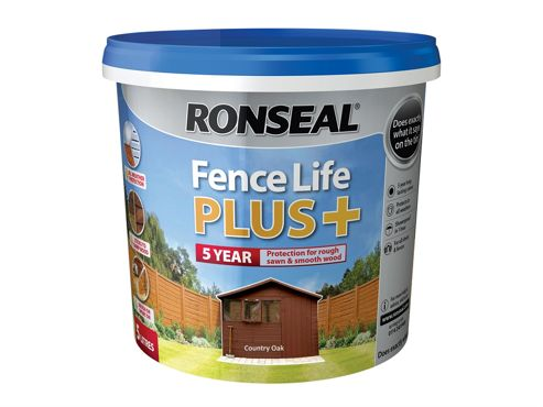 Ronseal Fence Life Plus+ Country Oak 5 Litre