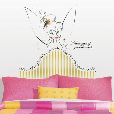 Disney Tinker Bell Giant Headboard Wall Sticker