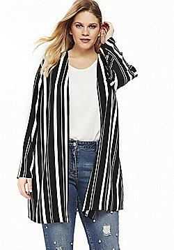 Evans Striped Plus Size Kimono - Multi