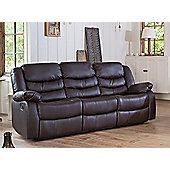 Sofa Collection Windermere Recliner Sofa - 3 Seat - Brown