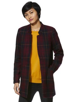 Vero Moda Patch Pocket Boyfriend Coat Terracotta M