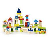 Viga Wooden 75 Piece City Blocks
