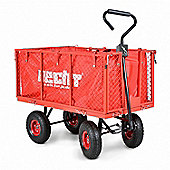 Large Heavy Duty Garden Trolley Handcart and Tractor Trailer with Liner – Hecht 52184