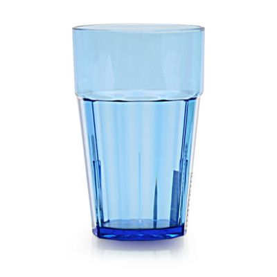Clarity 16 oz Diamond Tumbler - Blue (12 Pack)