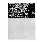 Homescapes 100% Egyptian Cotton Flat Sheet Plain 200 Thread Count - White