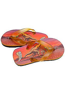 Dinosoles Dinoflips T-Rex Kids Flip Flops - Red