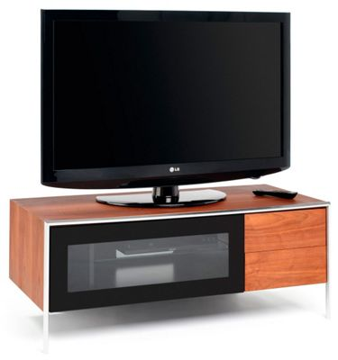 Techlink BladeA Corner TV Stand - Walnut