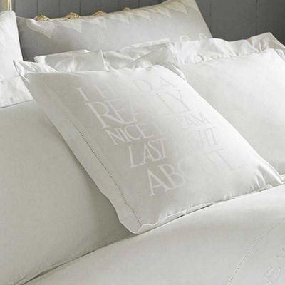 Emma Bridgewater 'Dream' White Embroidered Cotton Cushion, 45 x 45cm