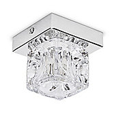 Ritz Single Ice Cube Ceiling Light, Chrome
