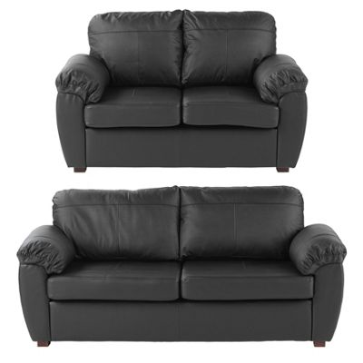 Wilton 2 Seater & 3 Seater Sofa Bundle, Black