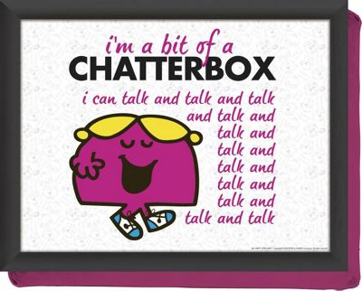 Creative Tops Little Miss Chatterbox Beanbag Cushion Lay Tray 5139390