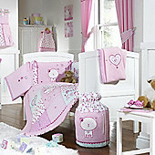 Bed-e-ByesPurfect Pink Room in a Box with Tape Top Curtains 136