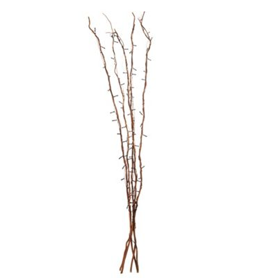120cm Decorative Twig Lights, Natural Brown