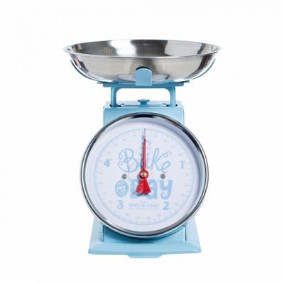 Mason Cash Mechanical Scale, Stainless Steel Bowl, Large Dial, Dishwasher Safe, 5kg, (Light Blue)