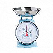 Mason Cash Mechanical Scale, Stainless Steel Bowl, Large Dial, Dishwasher Safe, 5kg, (Light Blue)