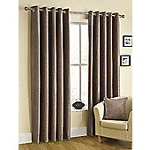 Puerto Ready Made Eyelet Curtains Brown 66x90 Inches