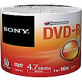 Sony DVD-R 16x 50 recordable storage 50-pack