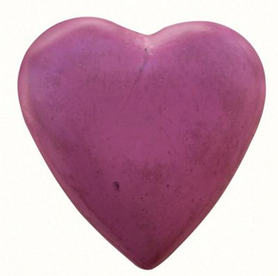 Painted Wooden Heart Raspberry