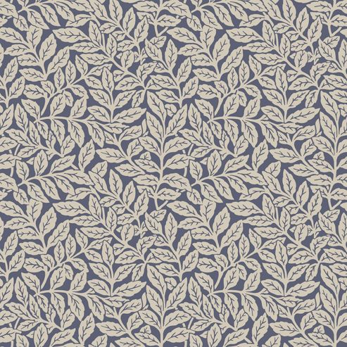 Crown Ash Branch Dark Blue Wallpaper