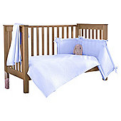Clair de Lune 2pc Cot Bed Bedding Set (Cotton Candy Blue)