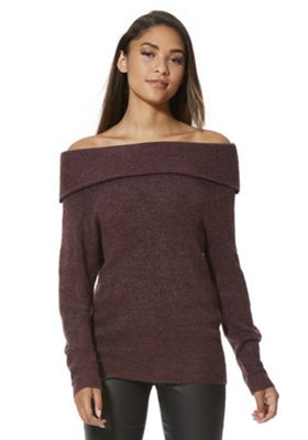 JDY Bardot Jumper S Purple
