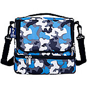 Dual Compartment Lunch Bags – Blue Camo