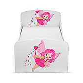 PriceRightHome Fairy Dust Toddler Bed Plus Foam Mattress