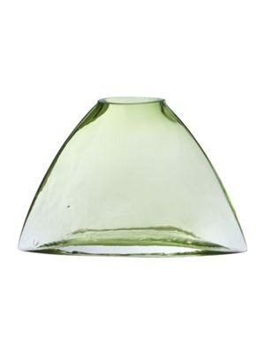 Linea Green Glass Vase, Small