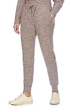 F&F Supersoft Marl Brushed Joggers - Pink