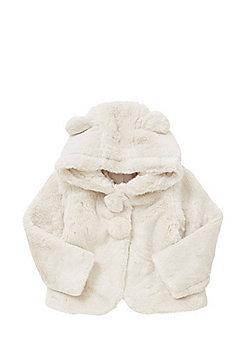 Minoti Faux Fur Hooded Jacket - Cream