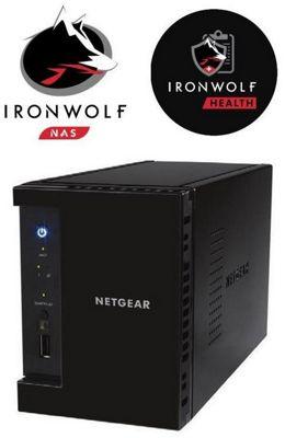 Netgear ReadyNAS RN212 2-Bay 20TB (2x10TB Seagate IronWolf) Media NAS Hub for Your Home