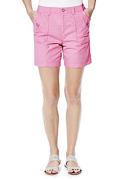 F&F Button Detail Shorts - Pink