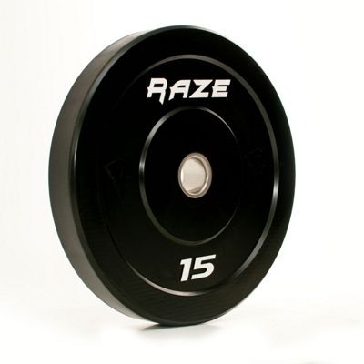 Raze 15kg Black Series Solid Rubber Olympic Plate (x1)