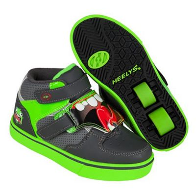 Heelys Tornado Grey/Light Grey/Green Heely Shoe Kids Heely Shoe UK 2