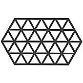 Zone Silicone Trivet, Black Triangles
