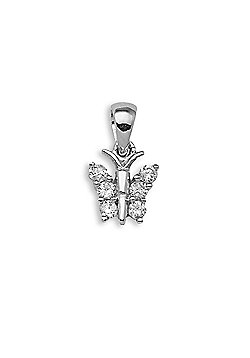 Jewelco London 18 Carat White Gold 13pts Diamond Pendant