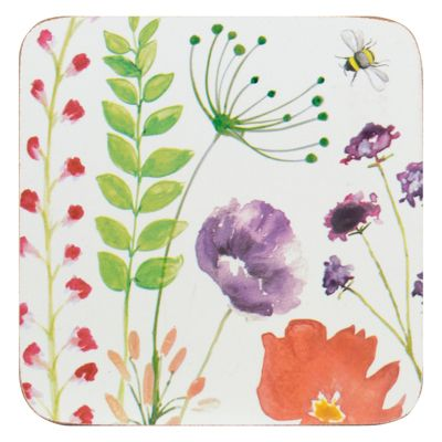 English Tableware Co. In Bloom Coasters, Set of 4