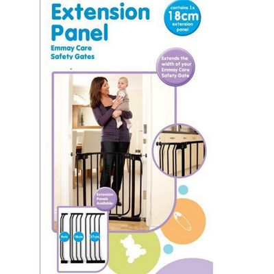 Emmay Care 18cm Extra Tall Gate Extension Black