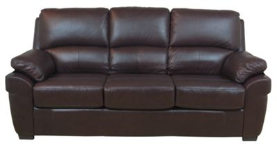 Furniture Link Monzano Leather 3 Seater Sofa Bed