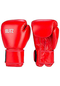 Blitz - Standard Leather Boxing Gloves - Red