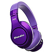 Bluedio U UFO Wireless Bluetooth Headphones - Purple