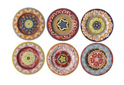 Rose \u0026 Tulipani Nador 13cm Canape / Tapas Plates Set of 6  sc 1 st  Tesco & Buy Rose \u0026 Tulipani Nador 13cm Canape / Tapas Plates Set of 6 from ...